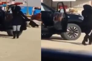 بالفيديو: شاب وفتاة في حالة سكر يرقصون بالشارع أمام الجميع بالسعودية!!